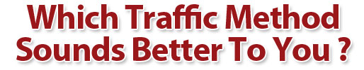 Which Traffic Method Sounds Better to You?